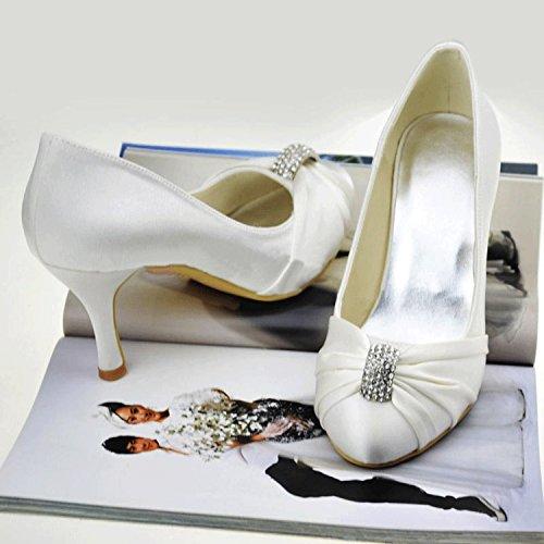 Da White Scarpe 7 Heel 5cm Donna Minitoo Ballo 4Hq8ww