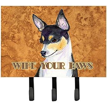 Triple Multicolor Carolines Treasures SC9140TH68 Boston Terrier Wipe Your Paws Leash or Key Holder
