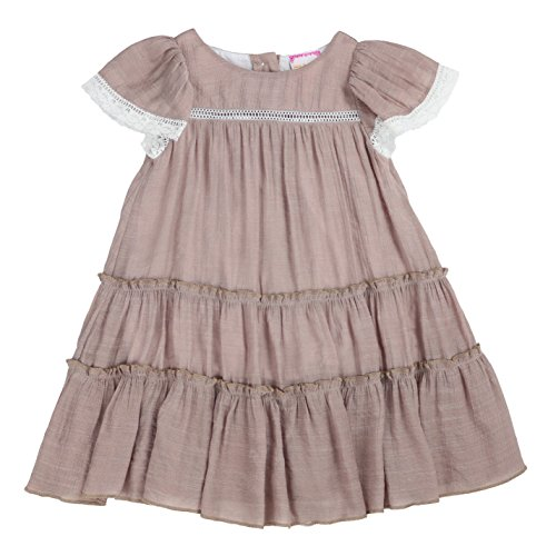 LELEFORKIDS - Toddlers and Girls Soft Cotton Bellisima Ella Floaty Dress in Taupe 6 by LELEFORKIDS