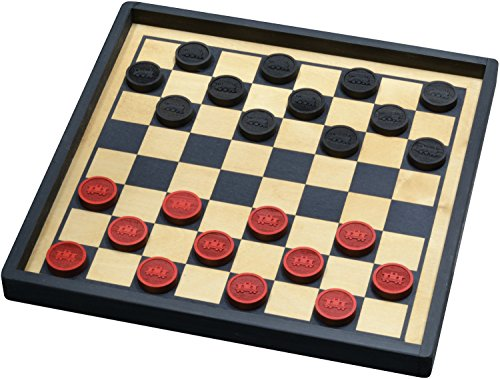 Train Checkers with Premium Board - Made in USA made in New England