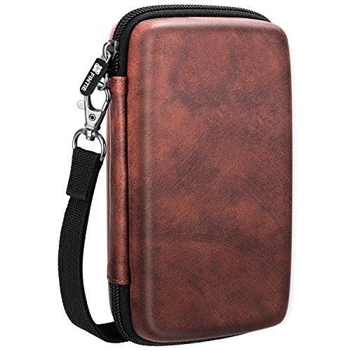 Fintie Carry Case for Kodak Mini/Mini 2 HD Photo Printer/Mini Shot 2 in 1 Camera & Printer - Hard EVA Shockproof Storage Portable Travel Bag with Inner Pocket/Removable Strap, Vintage Brown