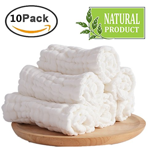 Muslin Washcloths Natural Organic Cotton product image