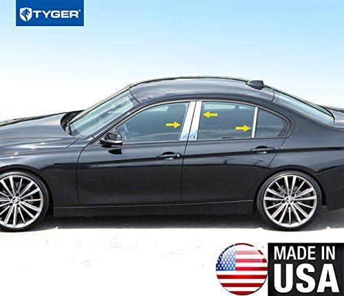 2012-2018 BMW 3 Series Sedan F30 F31 6Pc Chrome Pillar Post Stainless Steel Trim