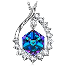 SIVERY Christmas Day Gifts for Mom 'Magic Love' Pendant Necklace with Cubic Swarovski Crystal, Jewelry for Women, Xmas Gift for Her