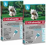Bayer K9 Advantix II Teal, 11-20lbs.12 Month Supply Flea & Tick