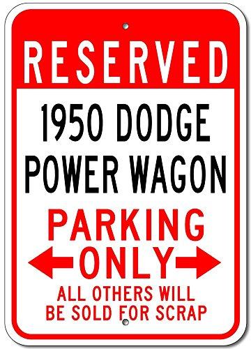 The Lizton Sign Shop 1950 50 Dodge Power Wagon Aluminum Parking Sign - 10