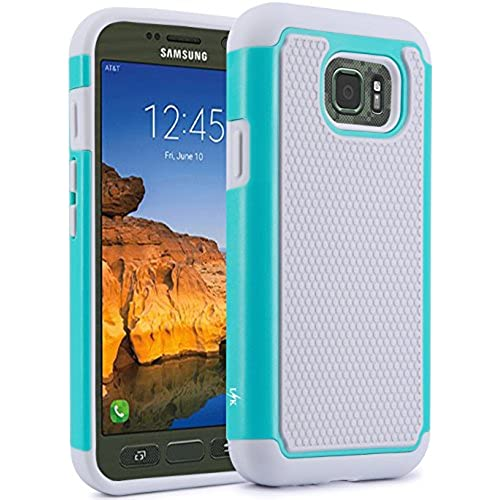 S7 Active Case, LK [Shock Absorption] Drop Protection Hybrid Dual Layer Armor Defender Protective Case Cover for Samsung Galaxy S7 Active (Mint) Sales
