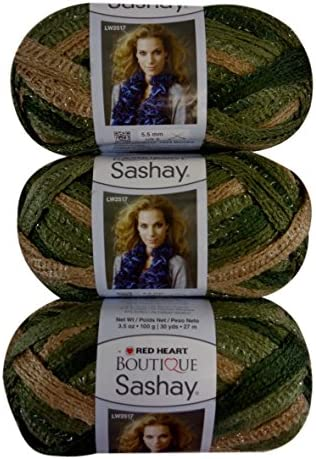 Red Heart Boutique Conga Sashay Yarn Lot of 3 Skeins