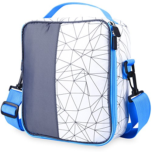 LEADO Insulated Lunch Bag, Reusable Cooler Bag School Lunch Box with Shoulder Strap For Boys, Girls, Kids, Adults