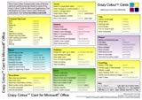 img - for Crazy Colour Quick Reference Card for Microsoft Office by Spence, Scott (2003) Pamphlet book / textbook / text book