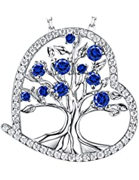 September Birthstone Created Blue Sapphire Jewelry Love...