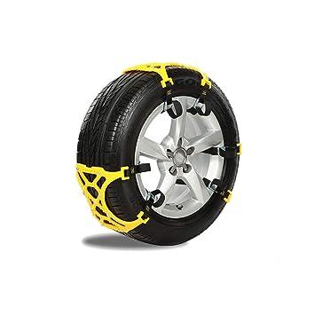 Rescuer Cadenas de Nieve, Cadenas para Nieve para Llantas Universales SUV Fácil De Montar para Cualquier Ancho De Llanta W-124 (Color : Amarillo): ...
