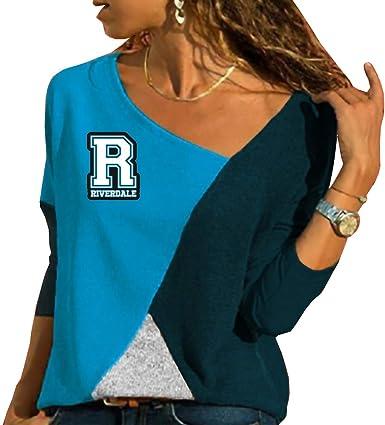 Riverdale Mujer Camisetas de Manga Larga Casuales Tshirt Patchwork Blusas Hipster Camisa Personalizadas Túnica Suelto Tops: Amazon.es: Ropa y accesorios