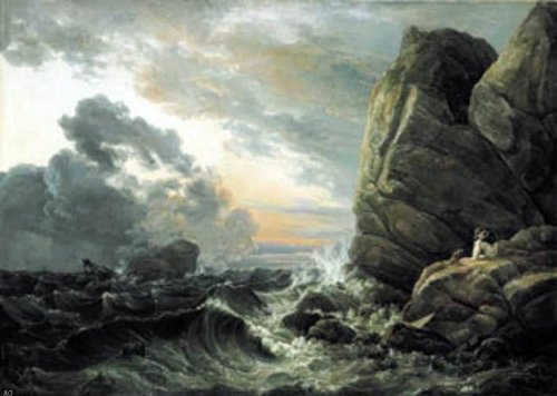 Art Oyster Johan Christian Claussen Dahl Morning After a Stormy Night - 18.1'' x 27.1'' 100% Hand Painted Oil Painting Reproduction by Art Oyster