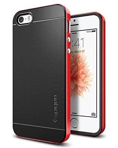 Spigen Neo Hybrid Designed for Apple iPhone SE Case (2016) - Dante Red