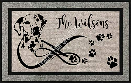 New Dalmatian Personalized Outdoor Welcome Front Entrance Door Mat (Personalized Dalmatian)