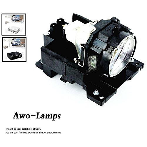 AWO DT00771 Premium Replacement Bulb/Lamp with Housing for HITACHI CP-X505 CP-X605 CP-X608 (Replacement Lamp Dt00771)