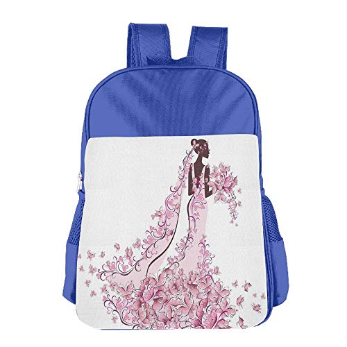 Haixia Youth Boys'&Girls' School Backpack Wedding Decorations Flowers Hearts Butterflies On Wedding Dress Bridal Gown Full Light Pink Maroon White by Haixia