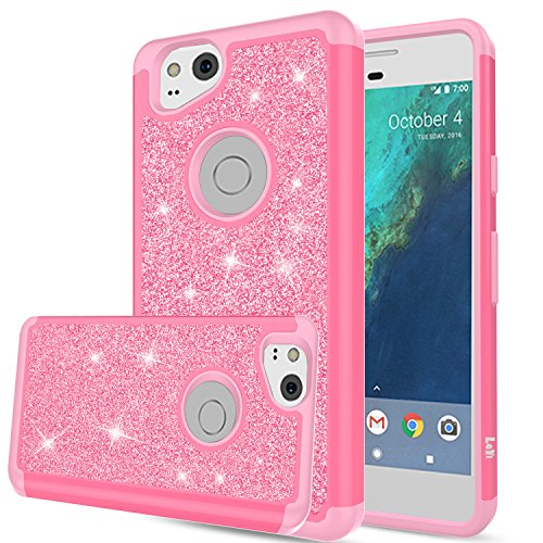 Pixel 2 Case, Google Pixel 2 Case, LeYi Glitter Case with HD Screen Protector,Cute Girls Women Silicon Shockproof Cell Phone Accessories Protective Cover for Google Pixel2 TP Pink