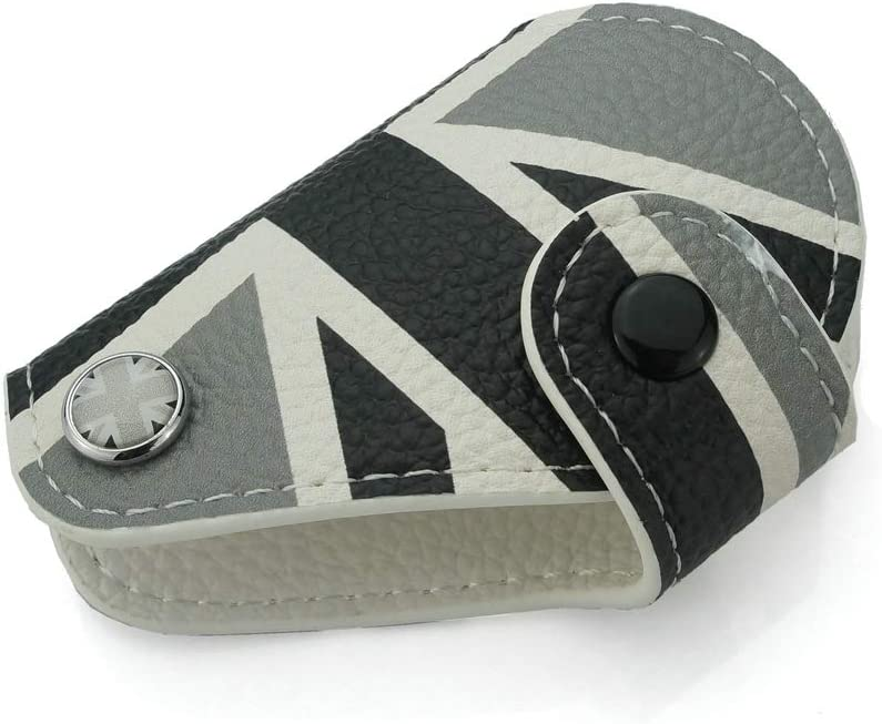Heinmo pour Mini Cooper R55 R56 R57 R60 R61 Clubman Countryman Union Jack De Voiture en Cuir V/éritable Key Bag Housse Couverture De Voiture Style Gray Rice
