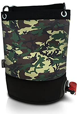 Outdoor Wine Bag - Bag-In-Box Sized Beverage Dispenser For Outdoors, Beach, Pool, Party, BBQ, Sea Etc - Thick Insulating Wet-Suite Neoprene Keeping Your Wine Chilled for Hours