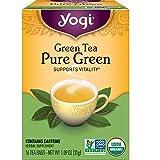 Yogi Tea - Green Tea Pure Green - Supports Vitality - Great as Hot or Iced Tea - 6 Pack, 96 Tea Bags Total