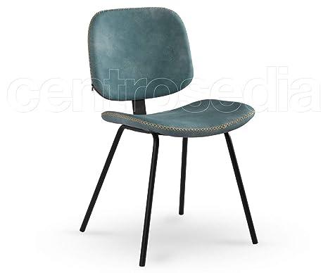 Sedie In Metallo Vintage : Centrosedia set di sedie holly vintage industriale design in