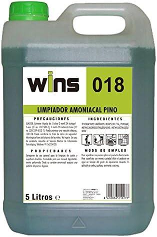 Wins. Limpiador amoniacal Pino Wins 018. Envase de 5 litros ...
