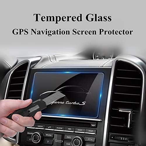 強化ガラス GPSナビゲーションスクリーンプロテクター、ポルシェカイエンヌ2011-2015用。 BONGZUO