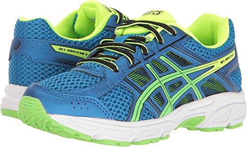 Asics Unisex Kids Gel Contend 4 Gs Running Shoe  Directoire Blue Green Safety Yellow  5 Medium Us Big Kid