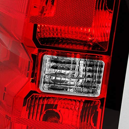 For Chevy Silverado 1500 2500 HD 3500 HD GMC Sierra 3500 HD Pickup Truck Red Clear Passenger Right Tail Light Replacement