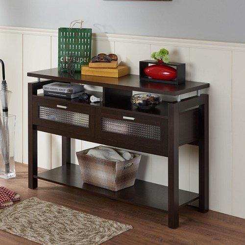 Furniture of America Bauston Modern Espresso Storage Sofa Table Review