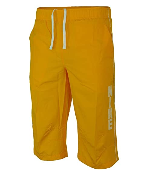 d265f8faf311 Nike Mens Long 3 4 Quarter Length Shorts - Yellow (M)  Amazon.co.uk   Clothing