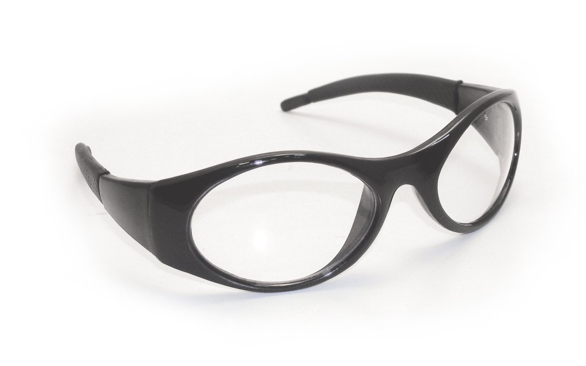 Clear Lens//Black Frame SAS Safety 5180-50 Stingers Eyewear with Clamshell