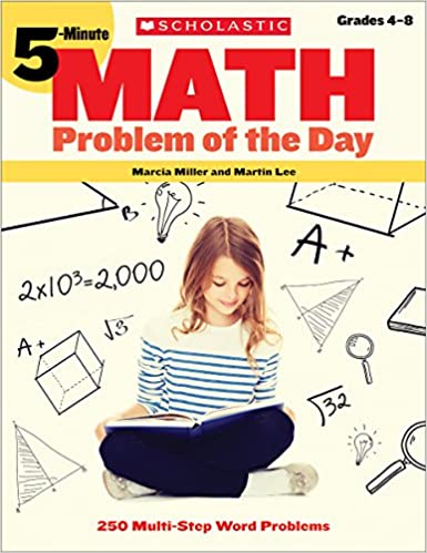 Amazon 5 minute math problem of the day 250 multi step word amazon 5 minute math problem of the day 250 multi step word problems 9780439175395 marcia miller martin lee books fandeluxe Choice Image