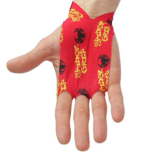 Spider Chalk Single Use Tape Hand Grips - Chalk Friendly, Self Stick, 3 Hole Workout Tape Grip - Thin & Flexible Hand Protection for Custom Fit