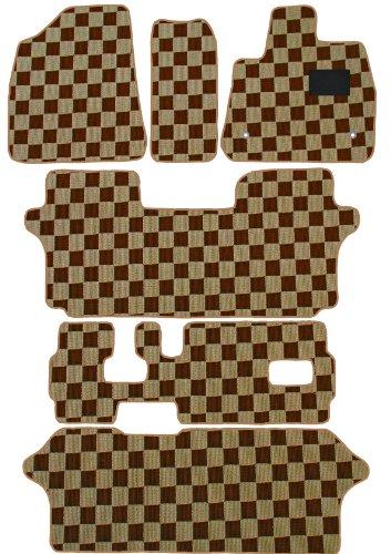 BMS(ビーエムエス) クリアチェックフロアマット ベージュ×ブラウン 【トヨタ VOXY AZR60系 H13/11 ~ 前期モデル タンブルシート車 非寒冷地 ヒーター有】 A80-T431-120 B00AYQK5GO ベージュ×ブラウン ベージュ×ブラウン