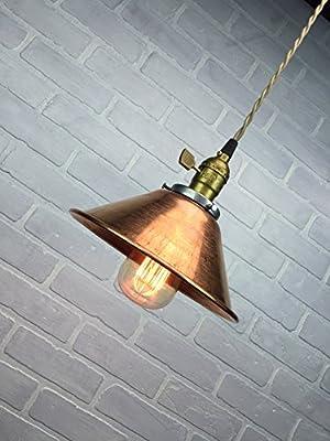 Copper Pendant Lamp - Industrial Lighting - Hanging Lamp - Edison Pendant Light