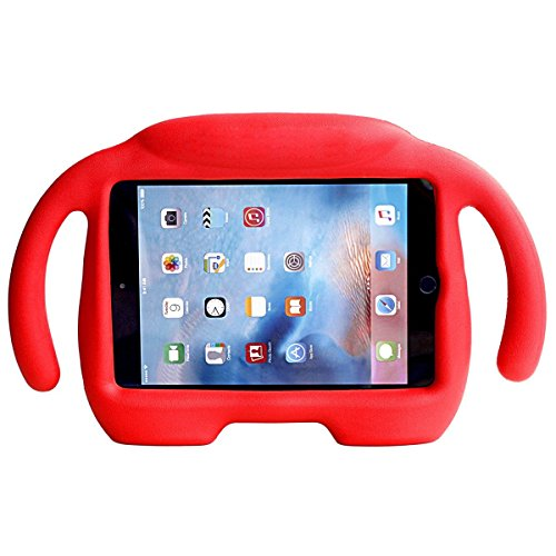 iPad Mini Case, iPad Mini 1 / 2 / 3 / 4 Case, Ubearkk Kids Shock Proof Freestanding Light Weight Super Protective Handle Stand Cover Case for Apple iPad Mini / Mini 2 / Mini 3 / Mini 4 (Red) - Illuminati 4 Light