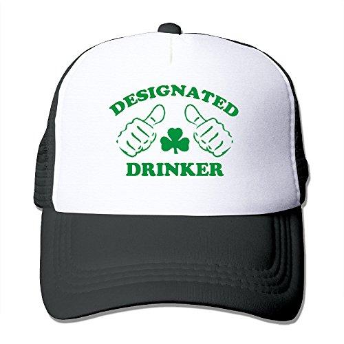 [DESIGNATED DRINKER Polyester Ladies' Adjustable Mesh Back Ball Cap Halloween Holiday Gifts] (Designated Drinker)