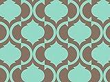 TILES AQUA & CHOCOLATE Recycled120~20''x30'' Half Ream Tissue Prints (2 unit, 120 pack per unit.)