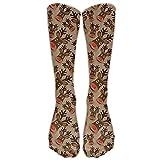 Womens Reindeer Printed Sock Over Knee High Boots Girls Long Socks