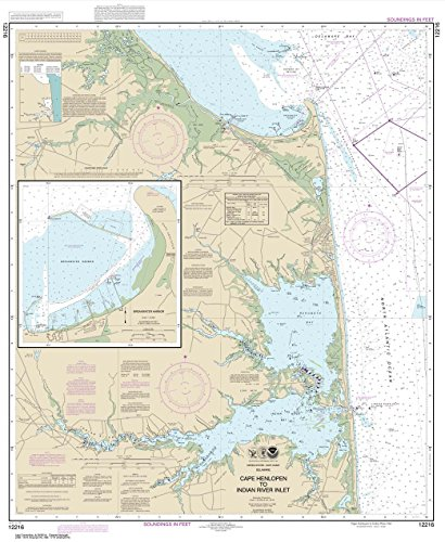 - Paradise Cay Publications NOAA Chart 12216: Cape Henlopen to Indian River Inlet; Breakwater Harbor, 37.7 X 30.9, TRADITIONAL PAPER
