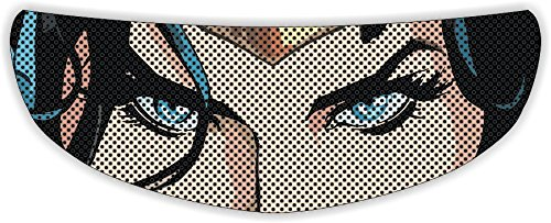 Wonder Woman Eyes Universal Full Face Motorcycle Helmet Windscreen Graphic Visor Tint Shield Sticker Decal ()