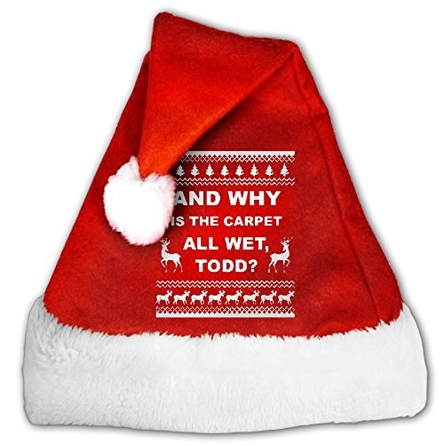 Todd Vacation Carpet Is Wet Movie Santa Hat ()
