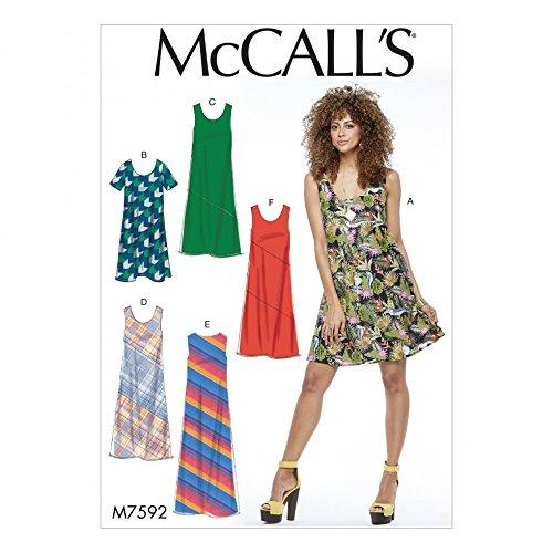- McCalls Ladies Easy Sewing Pattern 7592 Pullover Bias Cut Tank Dresses