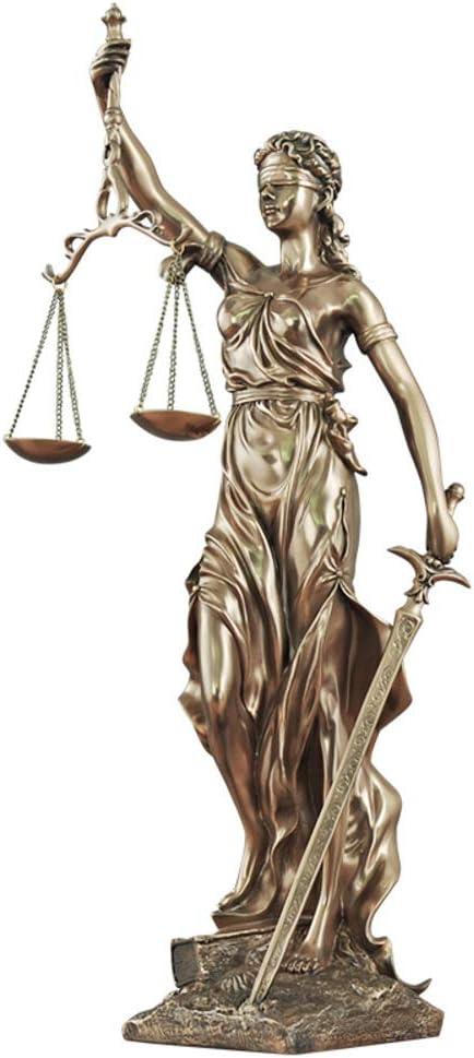 6x4x12inch YB/&GQ Top Collection /Échelles De La Justice Lady Statue,d/éesse Romaine Figurine Grande pour Avocat Procureur Juge Sculpture,Finition en Bronze-Petit 16x10x30cm