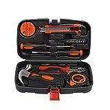 HaloVa Homeowner's Tool Kit, Home Repair Tool Kit, General Household Hand Tool Set, 9 Piece of Essential Tools and Hardware