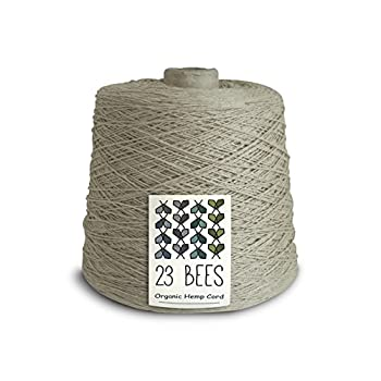 Image of Beading Cords & Threads 100% Organic Bulk Hemp String, Twine, Cord, Jewelry Making, Beading, Macrame, Crafts, 23 Bees (8,000ft x 10 lb.)