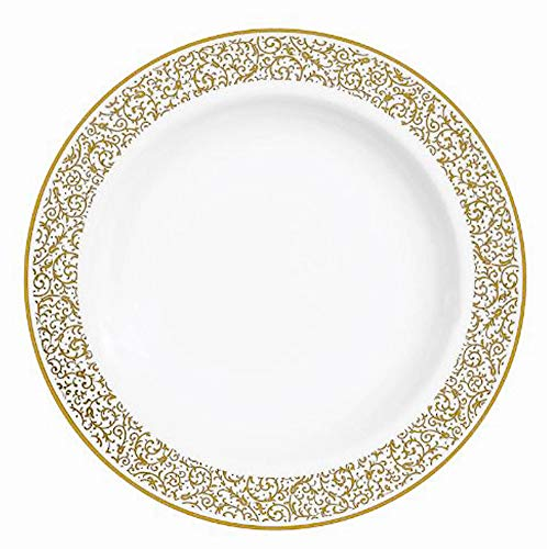 VERA WANG Vera Filigree Gold Rim soup plate
